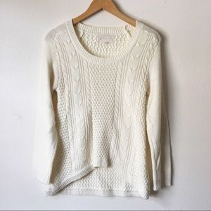 Ambiance cable net Knit Sweater Size S